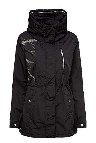 SOCCX Damen Oversized-Jacke mit Label-Applikationen