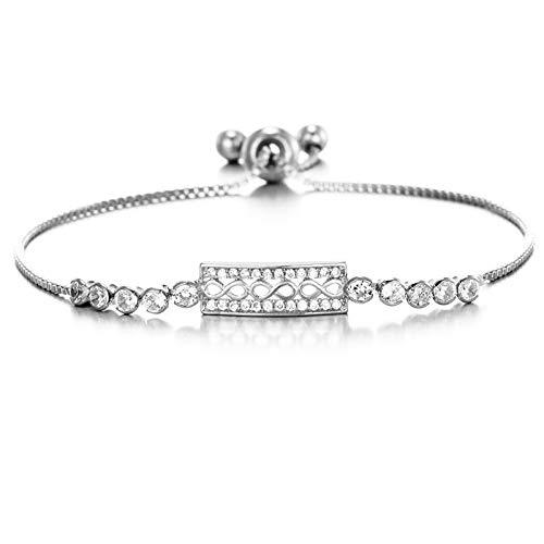 XXX Pulsera de plata para mujer, figura 8, regalo para mamá, día de San Valentín, día de la madre