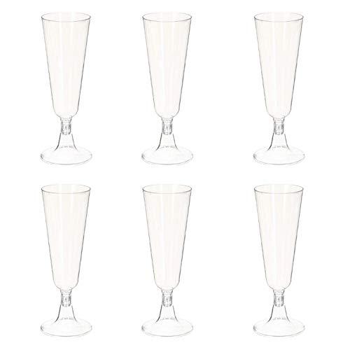 FIVE Simply Smart - Lot de 6 Flûtes à Champagne Plastique\