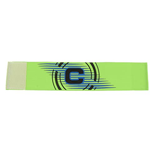 Sharplace 2xCaptain Brazalete Fútbol Fútbol Deportes Brazaletes Ajustables Verde Brillante