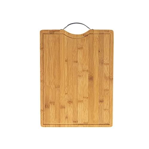 Tabla de Cortar Tableros de corte para la cocina Bambú Picar tabla de cortar rectángulo con ranura de jugo Easy Grips Mango, para frutas Verduras y carne Tabla Cortar Cocina