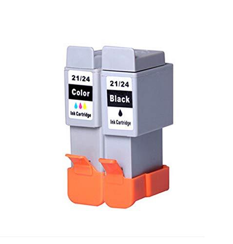 Cartuchos Tinta Compatible con Canon BCI-21/24 Negro y Color