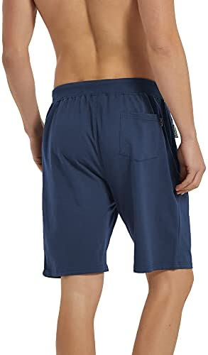 GEEK LIGHTING Mens Shorts Casual Comfy Gym Shorts Drawstring Zipper Pockets Elastic Waist
