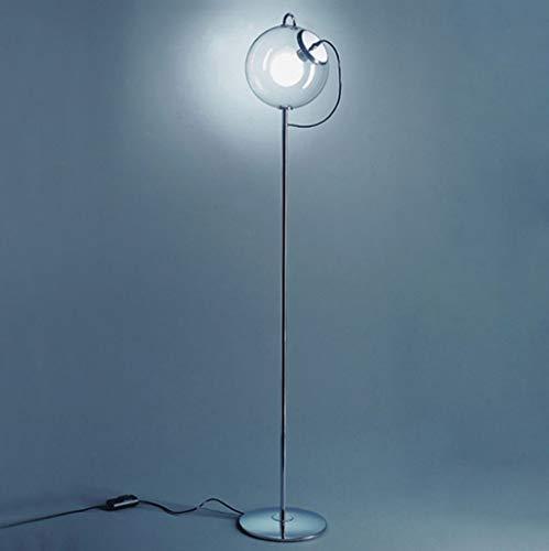 lampadaire Lampadaire, Soap Bubble Floor Lamp, Lampadaire En Verre, 30 * 168cm, Étude De Chambre À Coucher De Salon