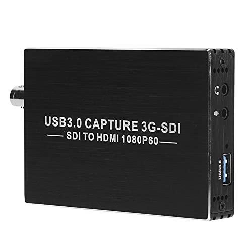 Goshyda Tarjeta de Captura de Video, 1080P Tarjeta de Captura de Video SDI a HD Multimedia USB3.0 Convertidor de Tarjeta de Captura de Puerto USB2.0 con Larga Vida útil para Video doméstico