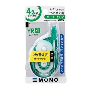 トンボ鉛筆 MONO YX 修正テープ つめ替えカートリッジ 幅4.2mm CT-YR4 5個セット