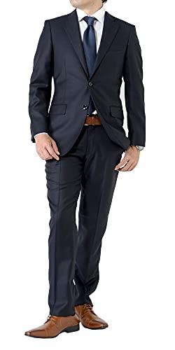 (アウトレットファクトリー)OUTLET FACTORY スーツ STUDIO by D'URBAN 秋冬メンズスーツ イタリア生地 REDA レダ スリムモデル ダークネイビー 2ツボタンビジネススーツ AB7