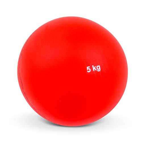 Vinex Hallenstoßkugel mit Fester Hülle - 5,00 KG - Rot