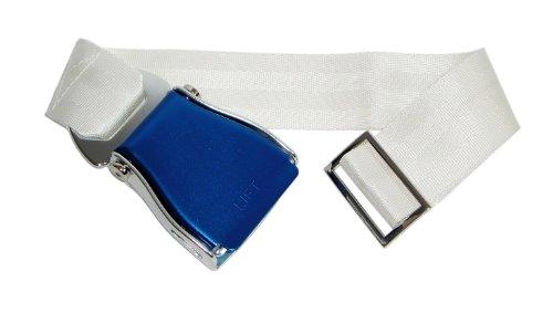 Skybelt vliegtuiggordel blauw/wit