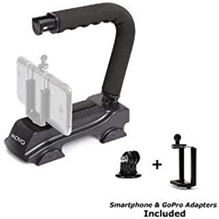 Movo Action Video Stabilizing Handle Grip for GoPro HERO, HERO2, HERO3, HERO4, HERO5 amd Apple iPhone 4, 4S, 5, 5S, 6, 6S,...