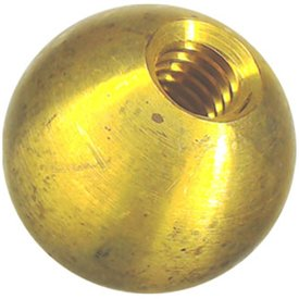 "one 1"" threaded 5/16-18 brass ball drilled tapped lamp finials"