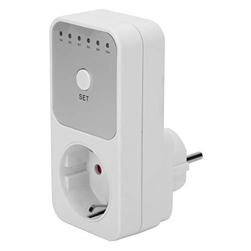 Temporizador automático Interruptor de toma de corriente Enchufe de la UE Temporizador enchufable Interruptor de toma de corriente Función de temporizador de cuenta regresiva Interruptor de