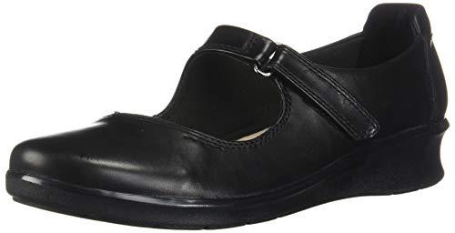 Clarks Women's Hope Henley Mary Jane Flat, Black Leather, 80 M US