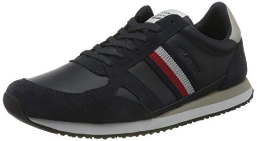 Tommy Hilfiger Runner Lo Leather Stripes, Zapatillas Hombre