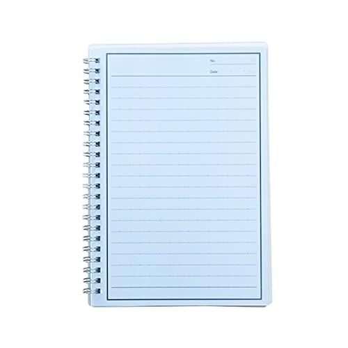 Diario Cuaderno Borreable Cuaderno Ambiental A5 Reproducción repetible Bobina Diario Cuaderno Papelería Notebook Notebook Sketchbook (Color : Blue, tamaño : 21 * 14.8cm)