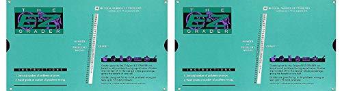 "Grading Calculator - E-Z Grader Teacher's Aid Scoring Chart (Original) - 8-1/2"" x 4-3/4"" (Тwo Рack)"