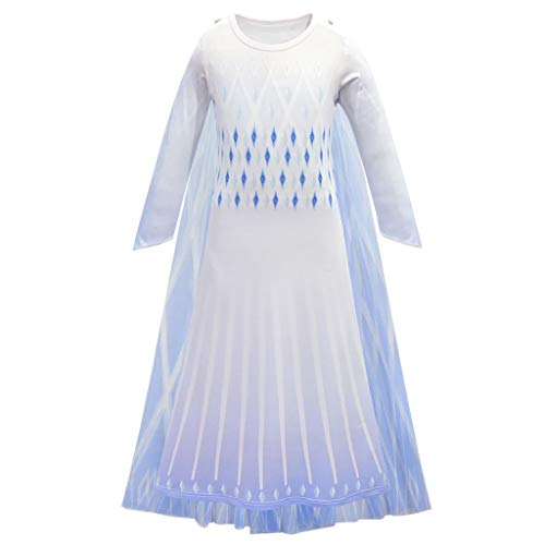 CosplayDiy Girl's Princess Inspired Snow Queen Party Cosplay Costume Dress Age 3+