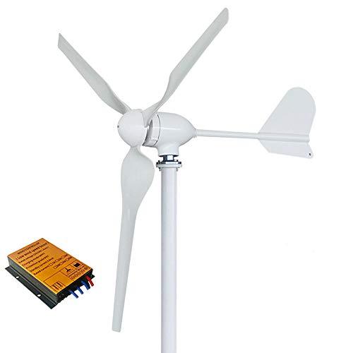 Generador de turbina de energía eólica de 1000 W, 12 V, 24 V, 48 V, con controlador MPPT y inversor de red de energía para uso doméstico de alta eficiencia (con controlador MPPT, 24 V)