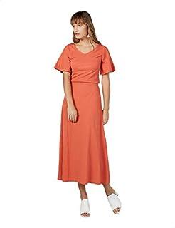 Splash Ruffled Short Sleeves V-Neck Dress for Women 8