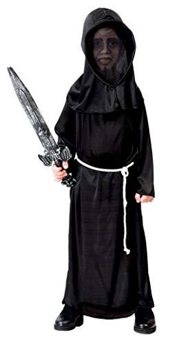 Guirca- Disfraz de monstruo de la oscuridad, Color negro, 10-12 años (81246)