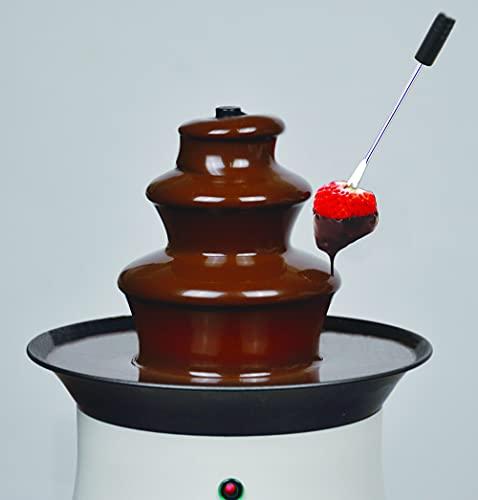 パール金属リトルリッチ電気チョコレートファウンテンMホワイトD-308