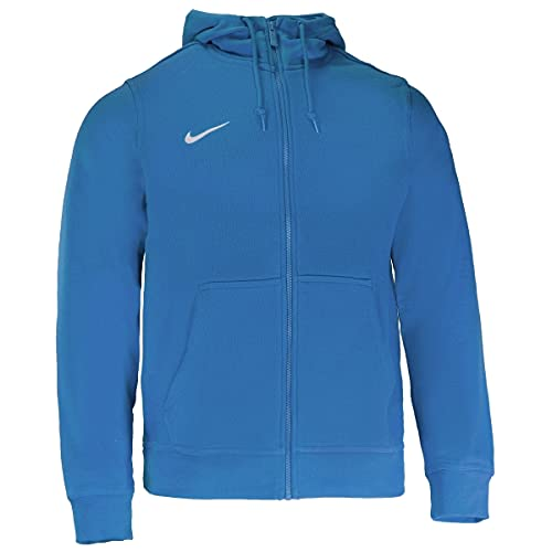 Nike Team Club FZ - Felpa Uomo con cappuccio e cerniera, Blu (Royal Blue/Football White), S