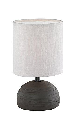 Reality Leuchten r50351001, lampada da tavolo, in ceramica, marrone, 14.0 x 14.0 x 23.0 cm