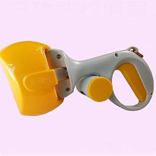 Chien Pooper Scooper, cuillère Portable pour Caca de Chien, ramassage de Nettoyage pour Chiens et Chats - Jaune - 28x12cm