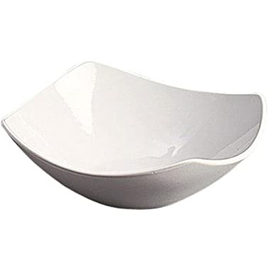 American Metalcraft SQND9 Prestige Ceramic 9  Squound Bowl, White