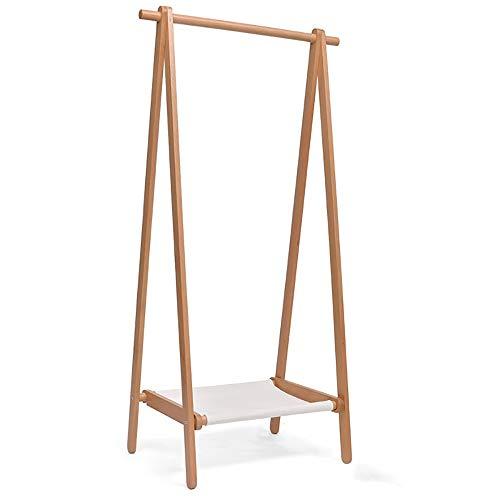 Tree Coat Rack Stand Floor Household Hanging Clothes Rack Folding Clothes Rack Bedroom Clothes Rack Solid Wood Coat Rack Clothes Stand Hanger (Color : Wood color, Size : 150x56x120cm)
