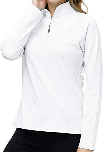 Long Sleeve Golf Polo Shirt Women White Stand Up Collar Tennis Athletic Shirts Dry Fit Lady product image