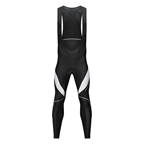 CUTICATE - Lange Radsport-Hosen für Herren in Schwarz Weiß, Größe L