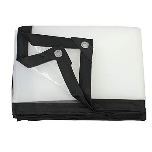 LIUPENGWEI transparant dekzeil, transparant buiten 100% waterdicht en lichtgewicht buiten balkon luifel isolatiestof 120g / M2 dekzeil zak 4m×4m Helder