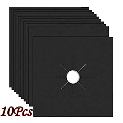 Reusable Gas Stove Burner Covers - 10 Pack Upgr...