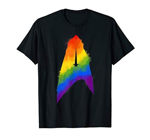 Star Trek Discovery Rainbow Paint Insignia Premium T-Shirt