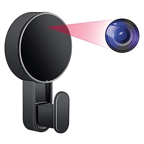 Telecamera Spia, Gancio Telecamera Nascosta 1080P HD P2P Mini Telecamera Domestica Portatile Microcamere Spia Registratore Audio e Video Telecamera di Sicurezza per Casa con Rilevazione di Movimento