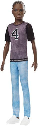 Mattel Barbie Fashionista-Muñeco Ken afroamericano con camiseta Los Ángeles, multicolor GDV13 , color/modelo surtido
