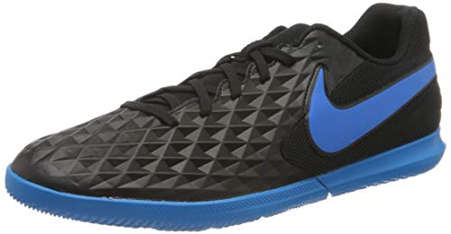 Nike Tiempo Legend 8 Club Indoor Soccer Shoes (Black/Blue, Numeric_9_Point_5)