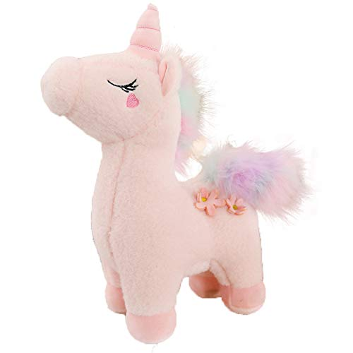 HHIAK666 Fantasy Unicorn Doll Plush Toy, Sleeping Pillow On Bed, Little Cute Horse Doll, Gift For Girl 50cm 0.65kg Pink