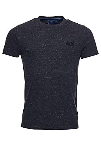 Superdry Vintage Logo Emb tee Camiseta, Gris Oscuro Jaspeado, XL para Hombre