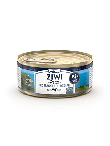 ZIWI Peak Canned Wet Cat Food – All Natural, High Protein, Grain Free, Limited Ingredient, with Superfoods (Mackerel, Case of 24, 3oz Cans)