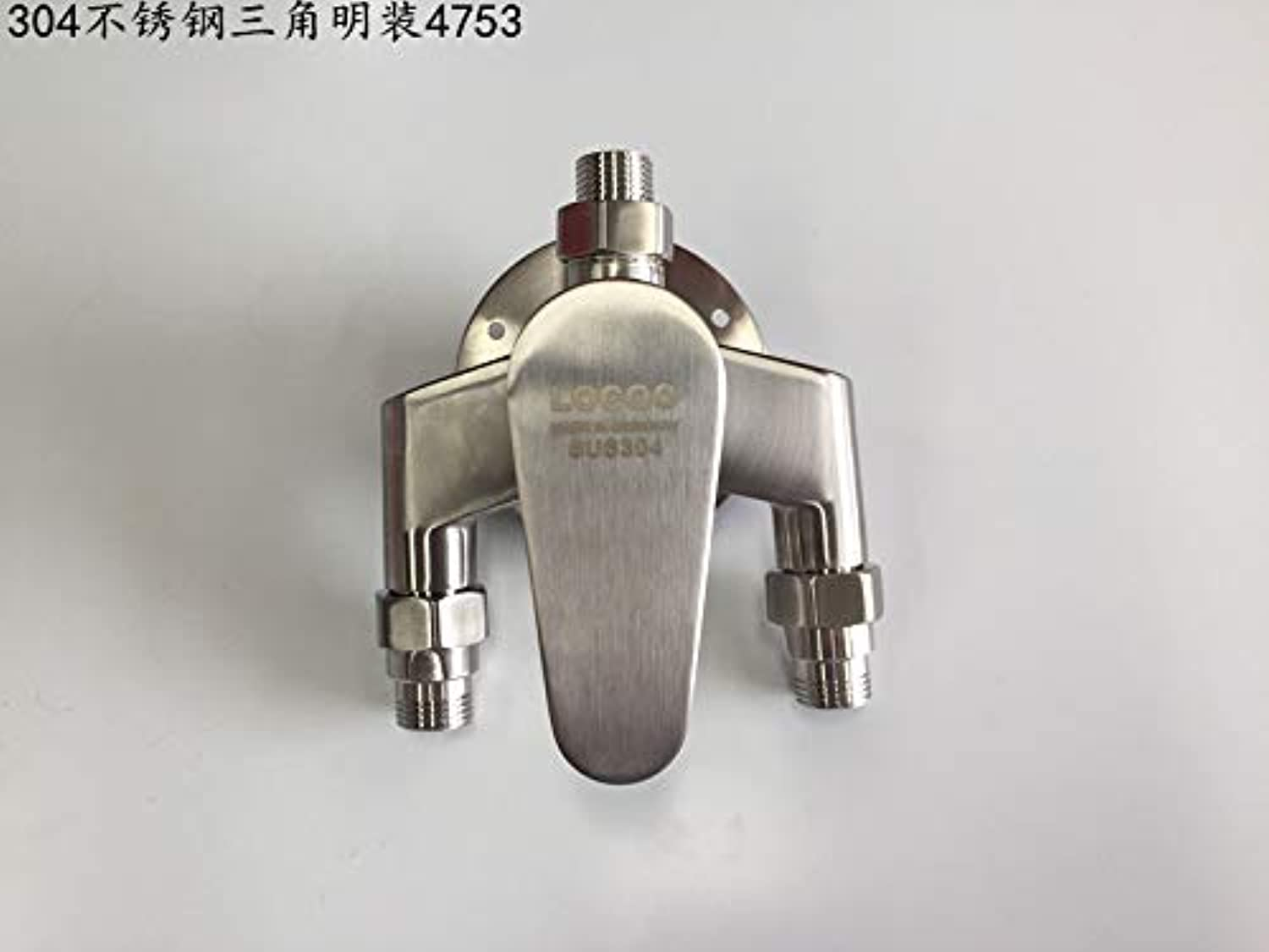 redOOY Mixing valve stainless steel shower faucet 306 wall mounted shower mixing valve hot and cold solar water heater faucet shower B