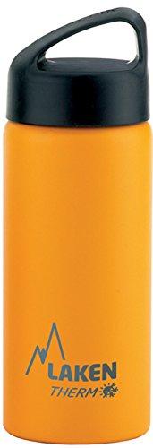 Laken Classic Botella Térmica Acero Inoxidable 18/8, Aislamiento de Vacío con Doble Pared y Boca Ancha, Amarillo, 750 ml