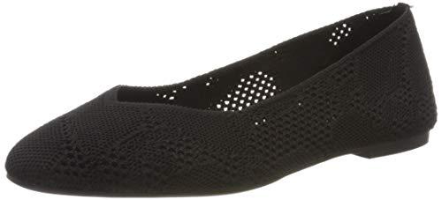 Skechers Damen Cleo KNITTY City Sneaker, Schwarz, 38 EU