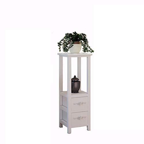 RENJUN Einfache und stilvolle moderne Pergolen aus Holz für Wohnzimmer, Schlafzimmer, Bonsai, Pflanzenständer, Schublade, Blumenständer (Farbe: 28 x 28 x 80 cm)
