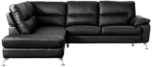 Cortesi Home Boston Leather Sectional Sofa