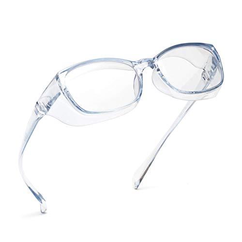 JIMMY ORANGE 花粉 メガネ ゴーグル [ブルーライト 紫外線 粉塵 飛沫 にも対策 ] 目立たない 伊達めがね 曇らない レディース メンズ 花粉症 メガネ(LG102S,ブルー)