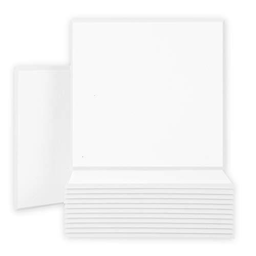 BUBOS 12 pack Paneles acústicos, a prueba de sonido, paneles de pared biselados, azulejos acústicos, buenos para insonorización y tratamiento acústico, 30 x 30 x 0.9 cm (Blanco)