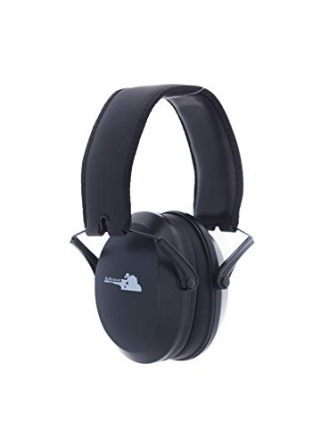 Rifleman Low Impact, Low Profile Ear Muffs, Shooting Hearing Protection, Ultralight and Compact Safety Ear Muffs, Razor Slim Cups, NRR 22, Black