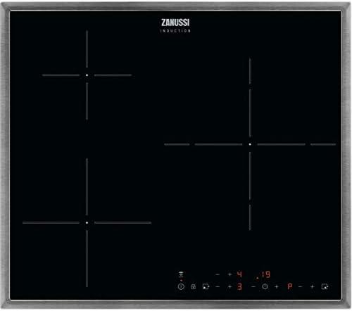 Zanussi ZITN633X Placa inducción, 3 zonas, Temporizador, Calentamiento automático, Avisador de minutos, Bloqueo seguridad, Avisador acústico, Control táctil, Con Marco, Negro, 60 cm